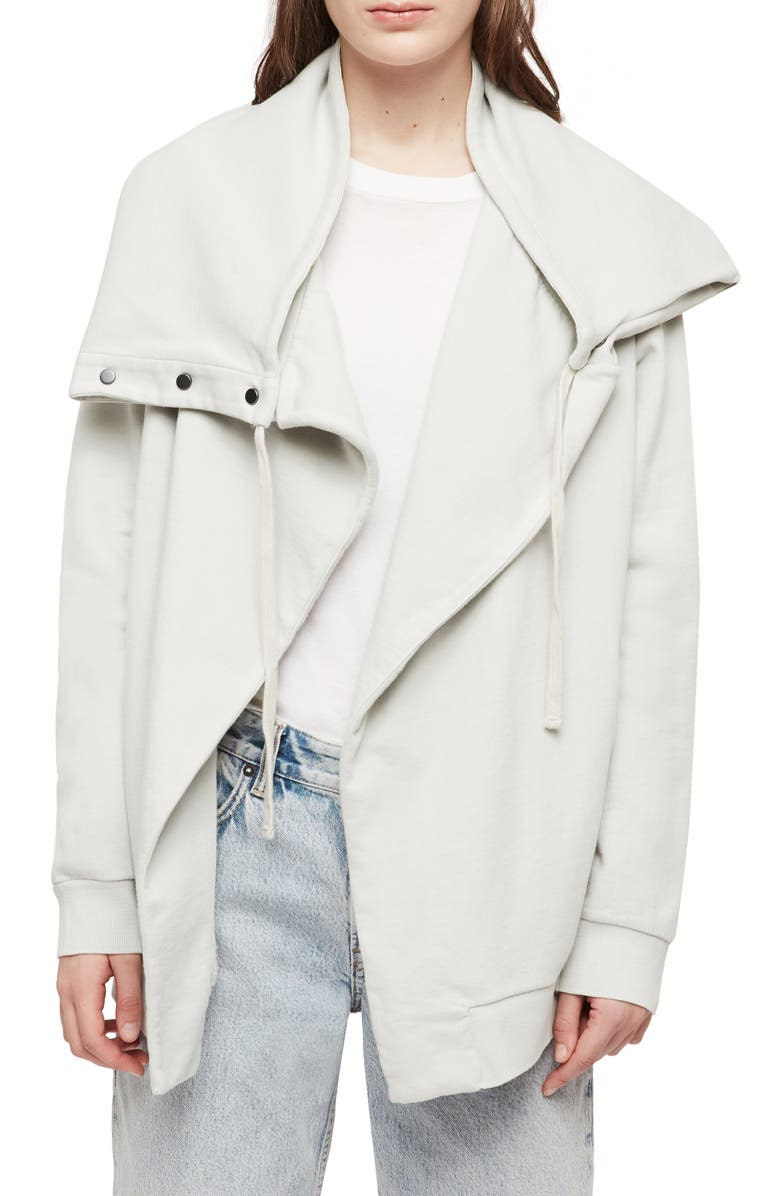 ALLSAINTS Brooke Knit Jacket, Main, color, IVORY WHITE