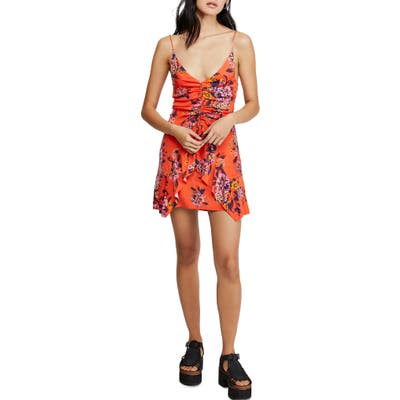 Free People Happy Heart Minidress, Orange