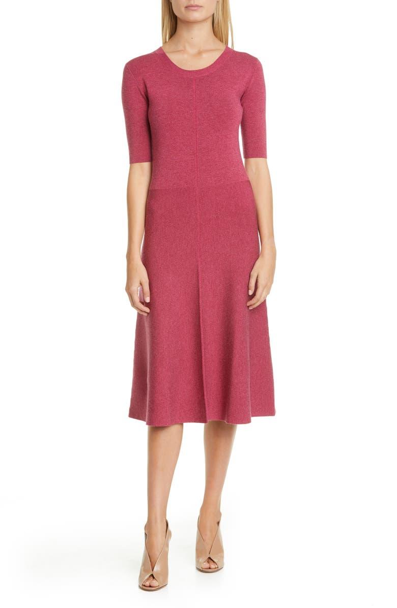 ALTUZARRA Silk Blend Sweater Dress, Main, color, DRAGON FRUIT