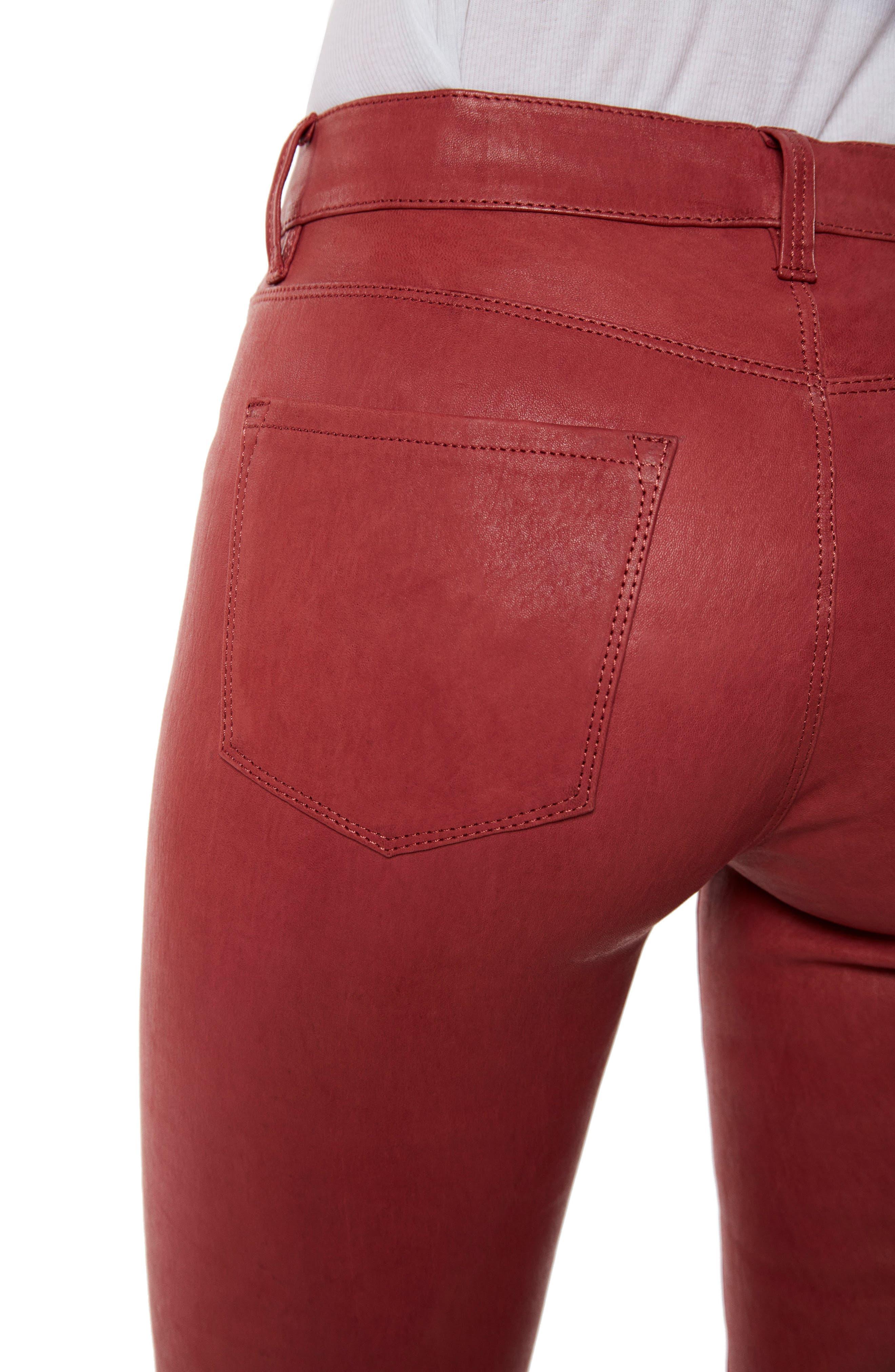 ,                             '8001' Lambskin Leather Pants,                             Alternate thumbnail 29, color,                             601