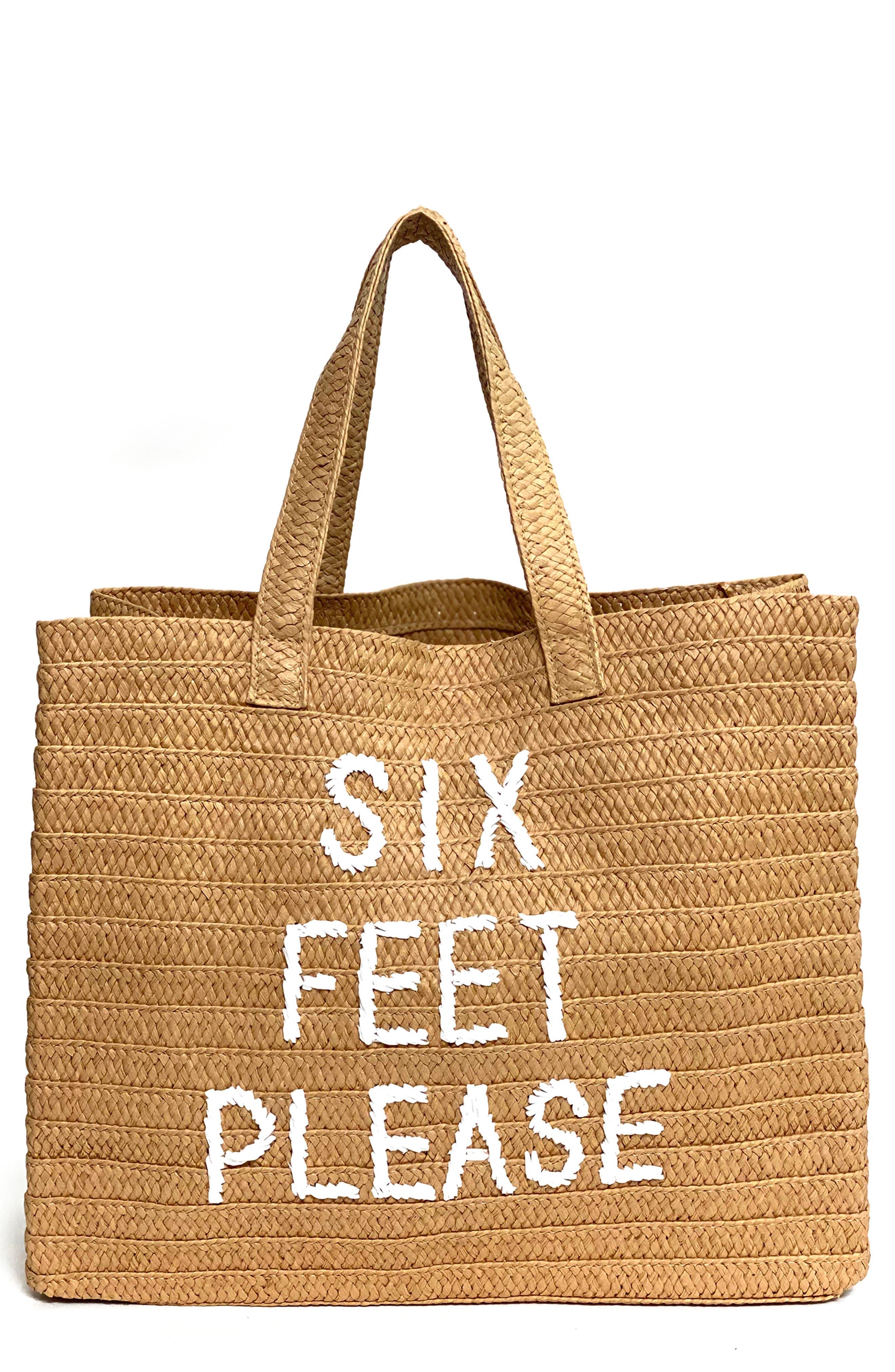 Six Feet Please Woven Tote