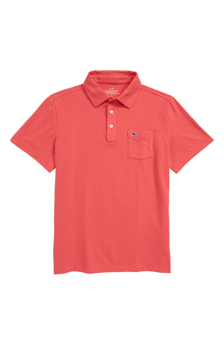 VINEYARD VINES Edgartown Dyed Polo, Main, color, SAILORS RED