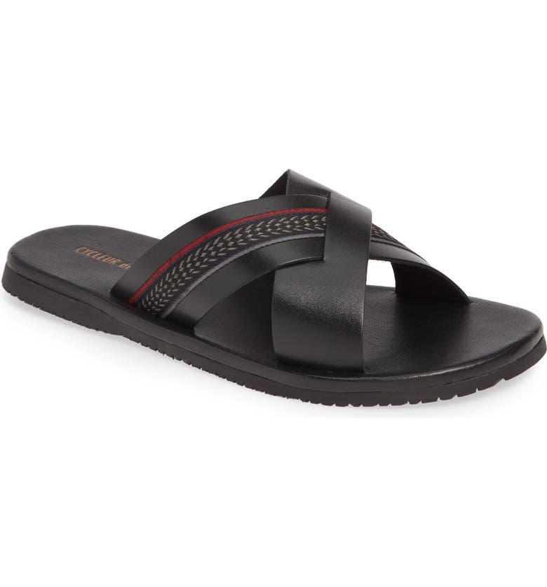 CYCLEUR DE LUXE Caravela Slide Sandal, Main, color, BLACK