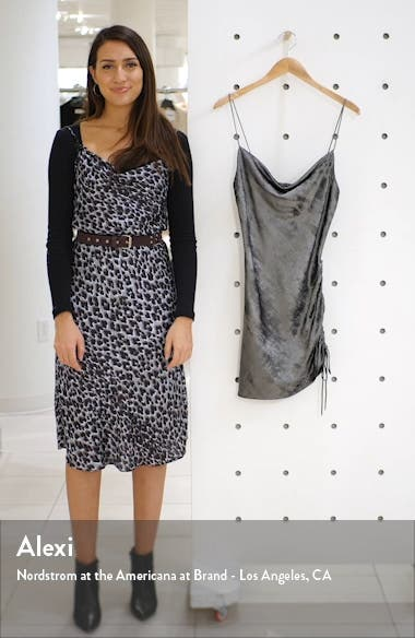 Metallic Ruched Mini Slipdress, sales video thumbnail
