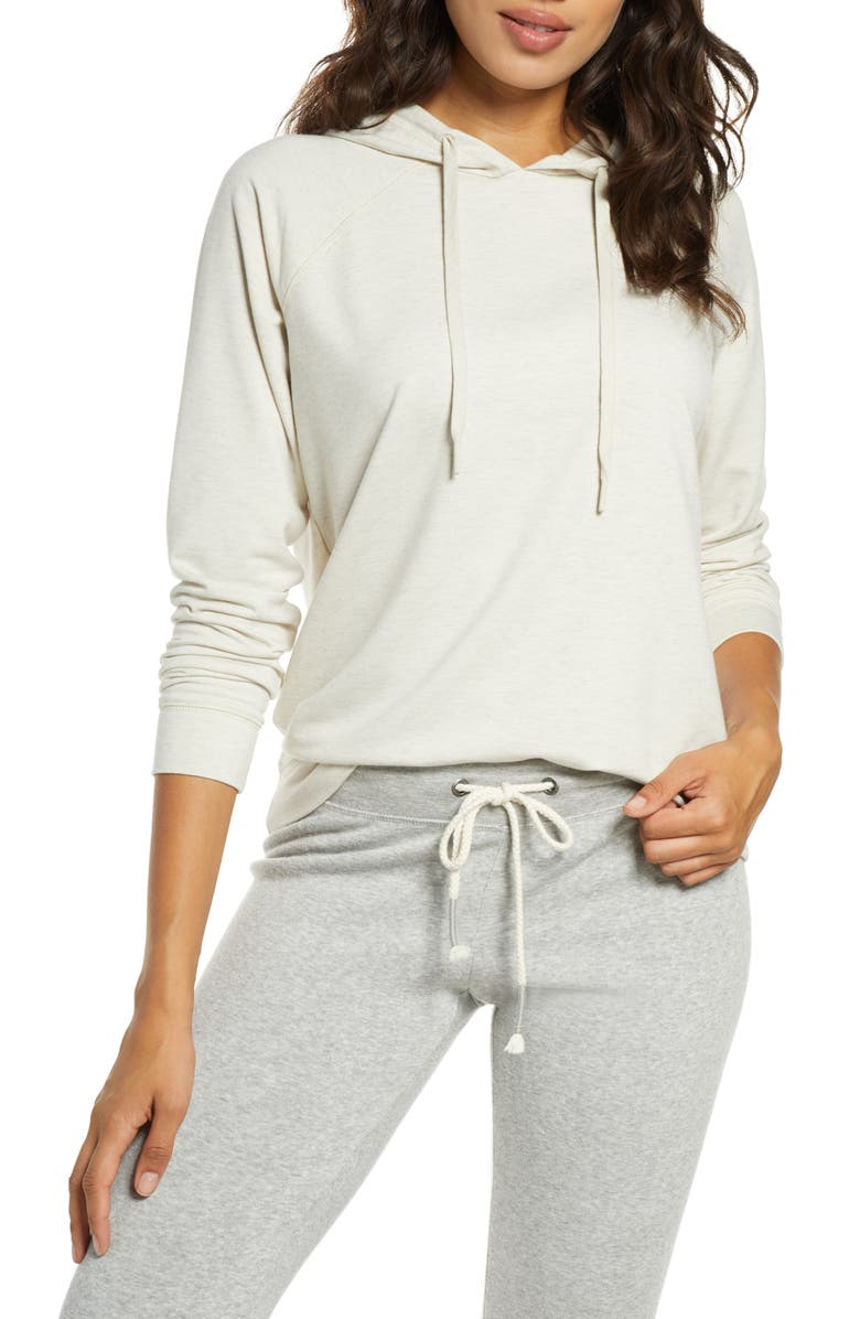PJ SALVAGE Peached Hoodie, Main, color, OATMEAL