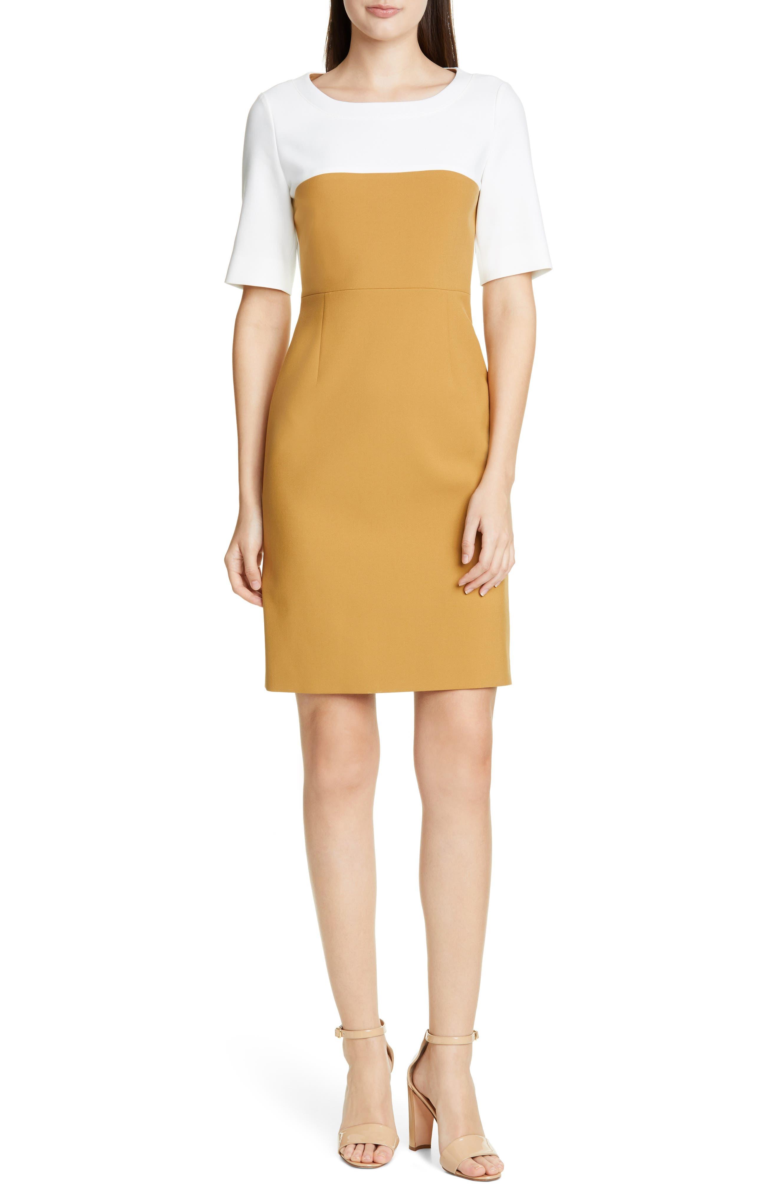 Boss Daina Colorblock Sheath Dress
