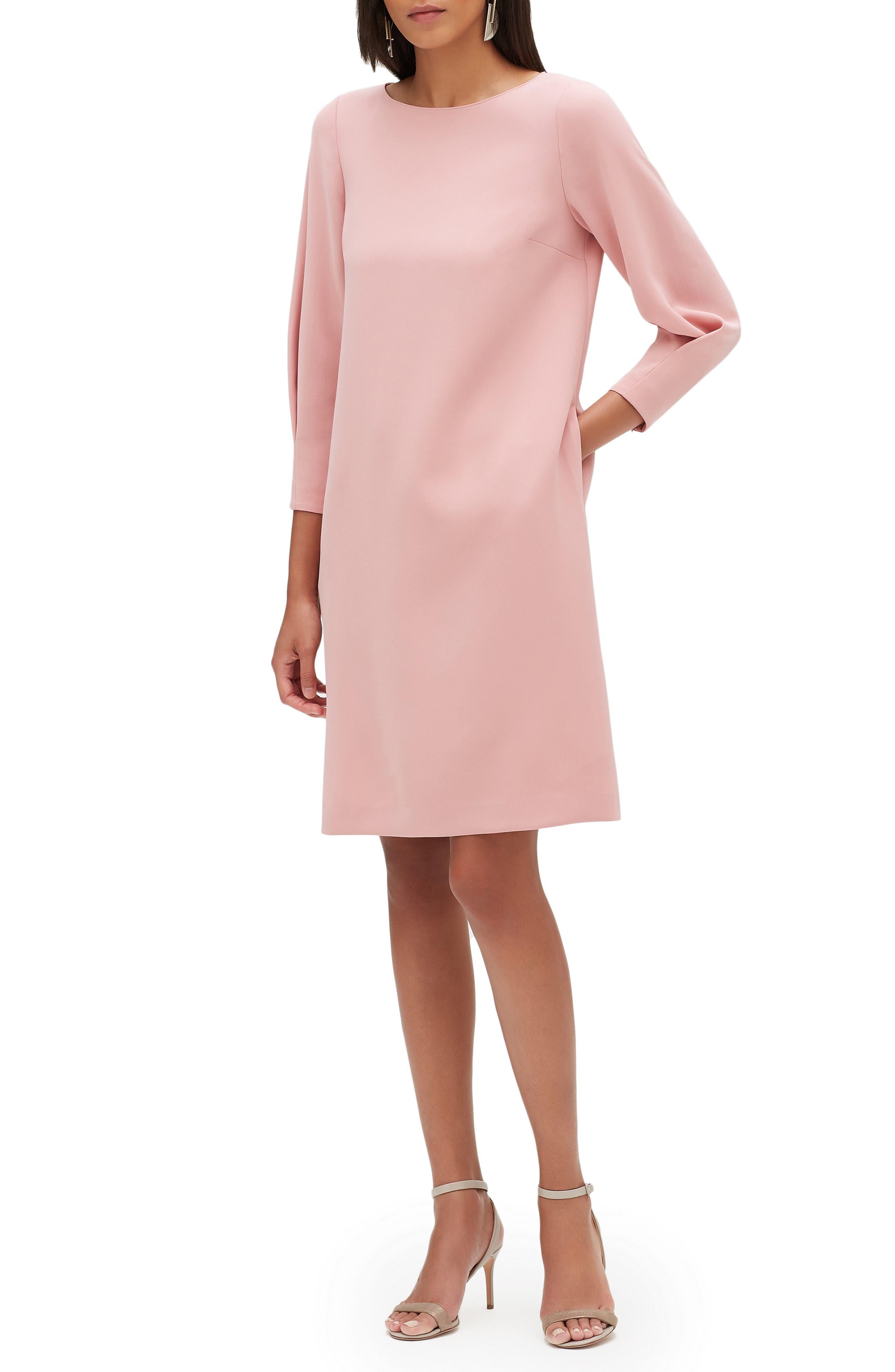 Lafayette 148 New York Caddie Finesse Crepe Dress, Pink
