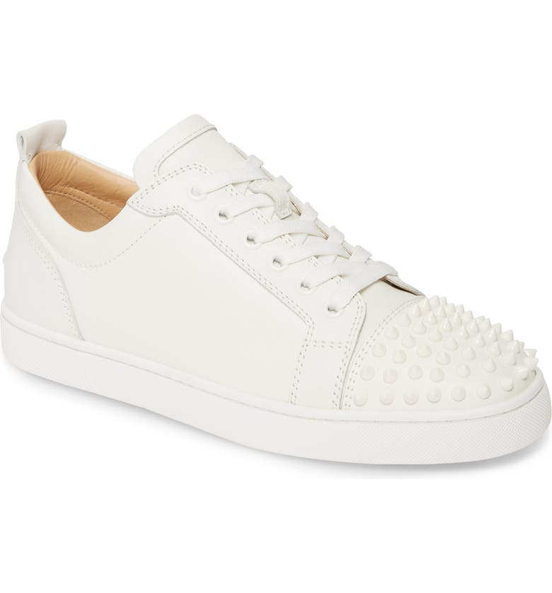 CHRISTIAN LOUBOUTIN Louis Junior Spikes Sneaker, Main, color, WHITE/ WHITE