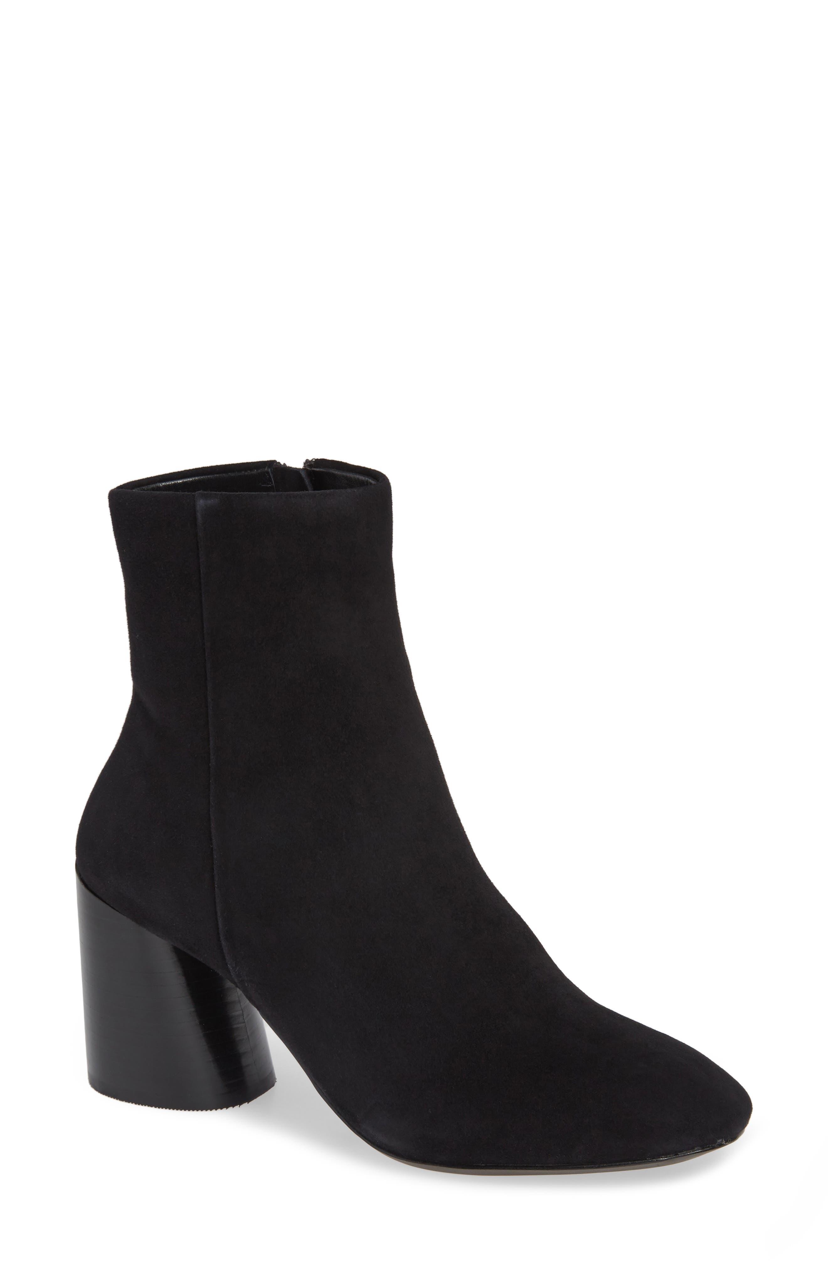 Linea Paolo Savvy Block Heel Bootie- Black
