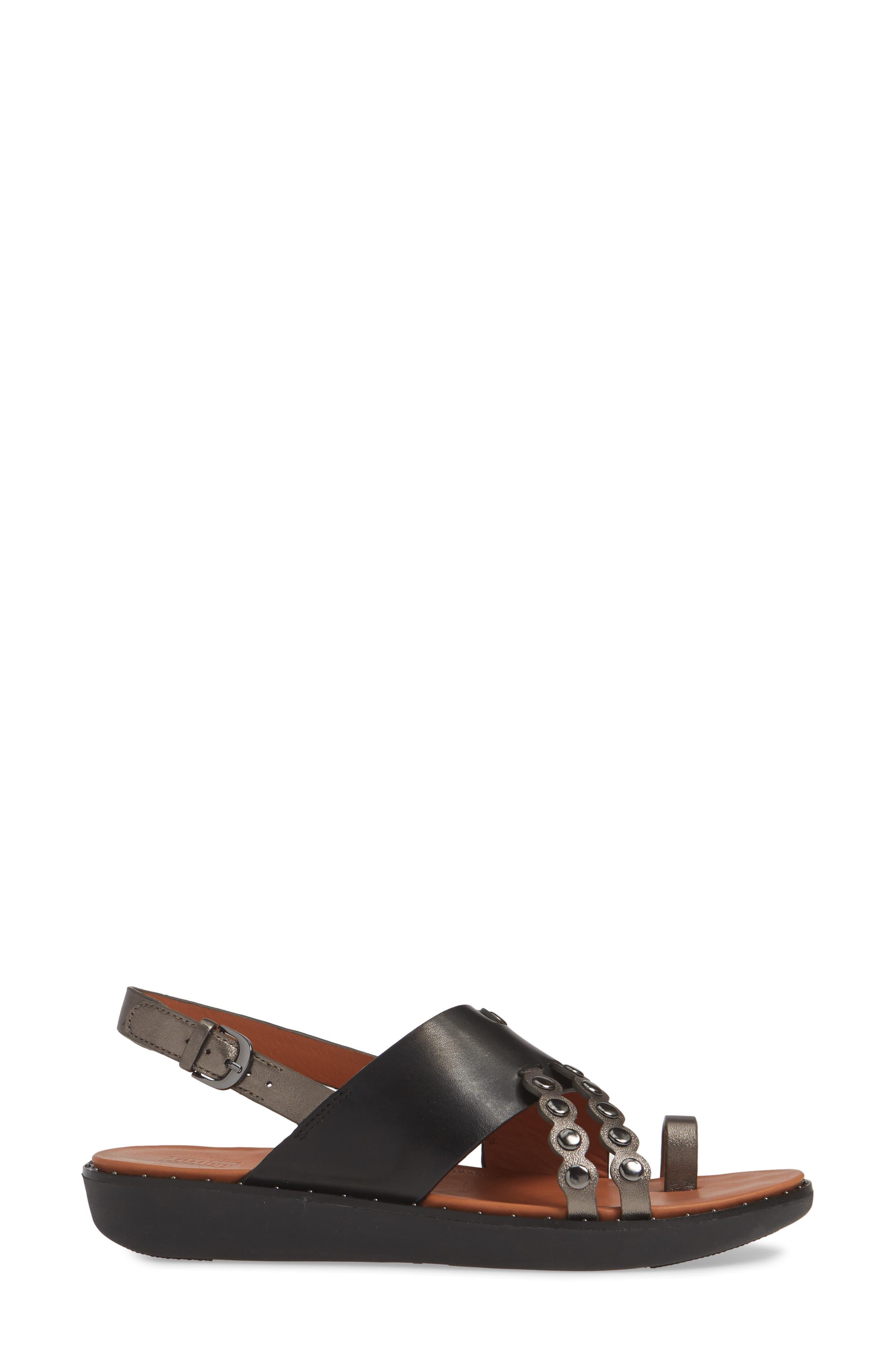 ,                             Scallop Embellished Sandal,                             Alternate thumbnail 3, color,                             001