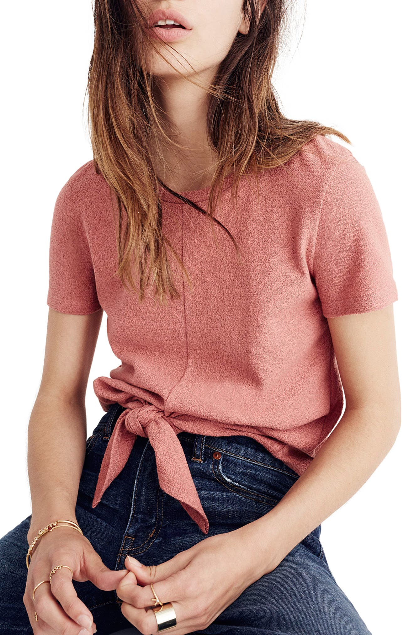 ,                             Modern Tie Front Tee,                             Main thumbnail 27, color,                             650