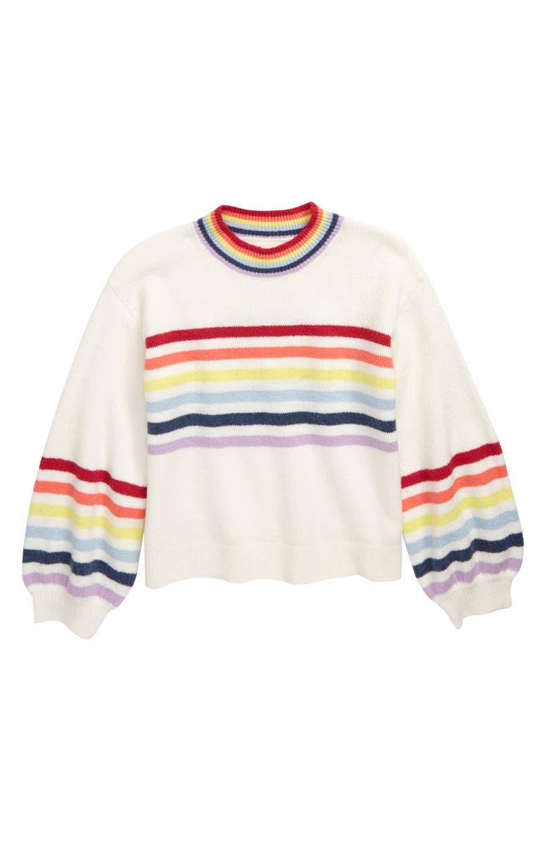 TUCKER + TATE Over the Rainbow Stripe Sweater, Main, color, 900