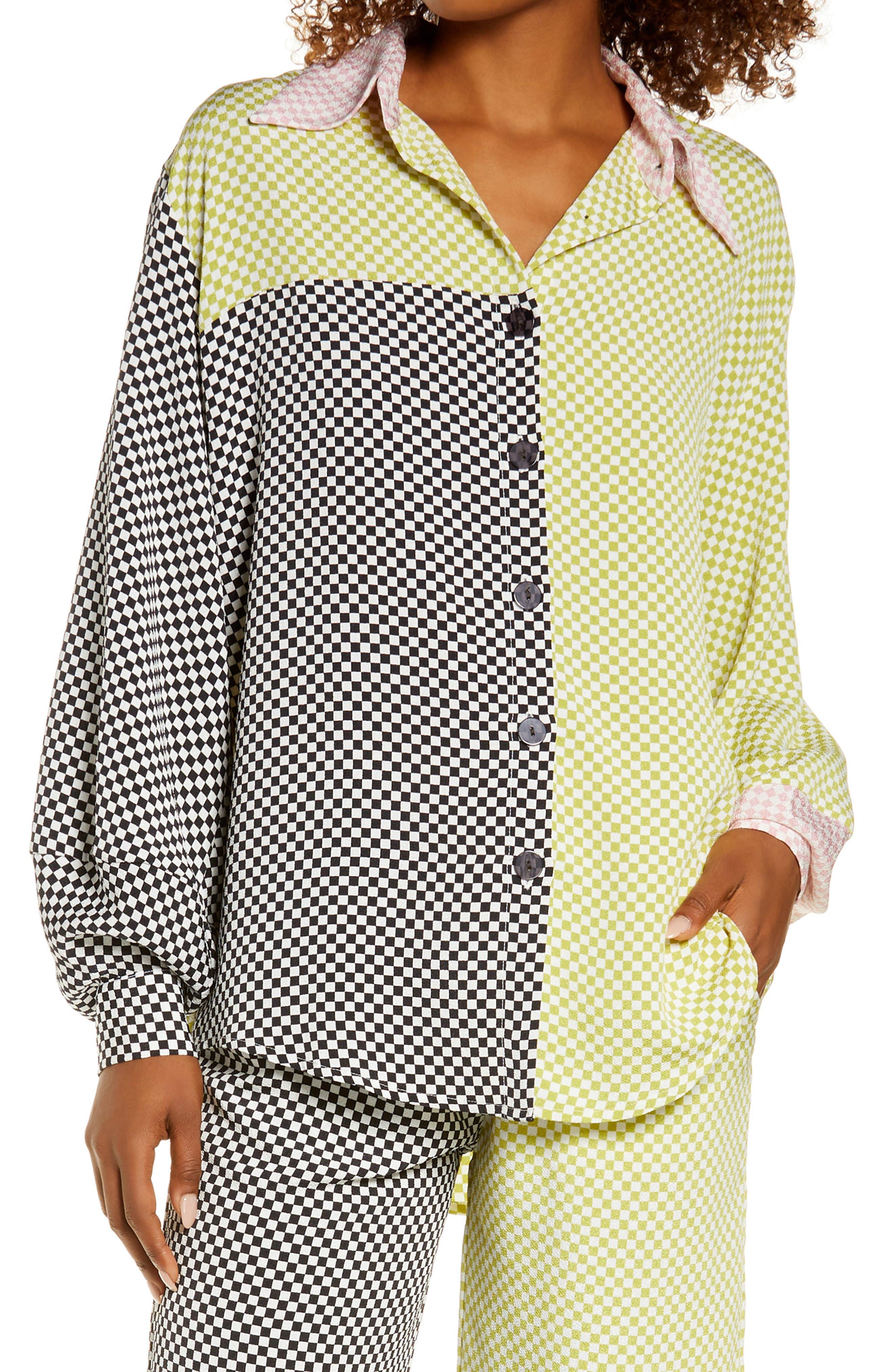 Mixed Checker Lounge Shirt