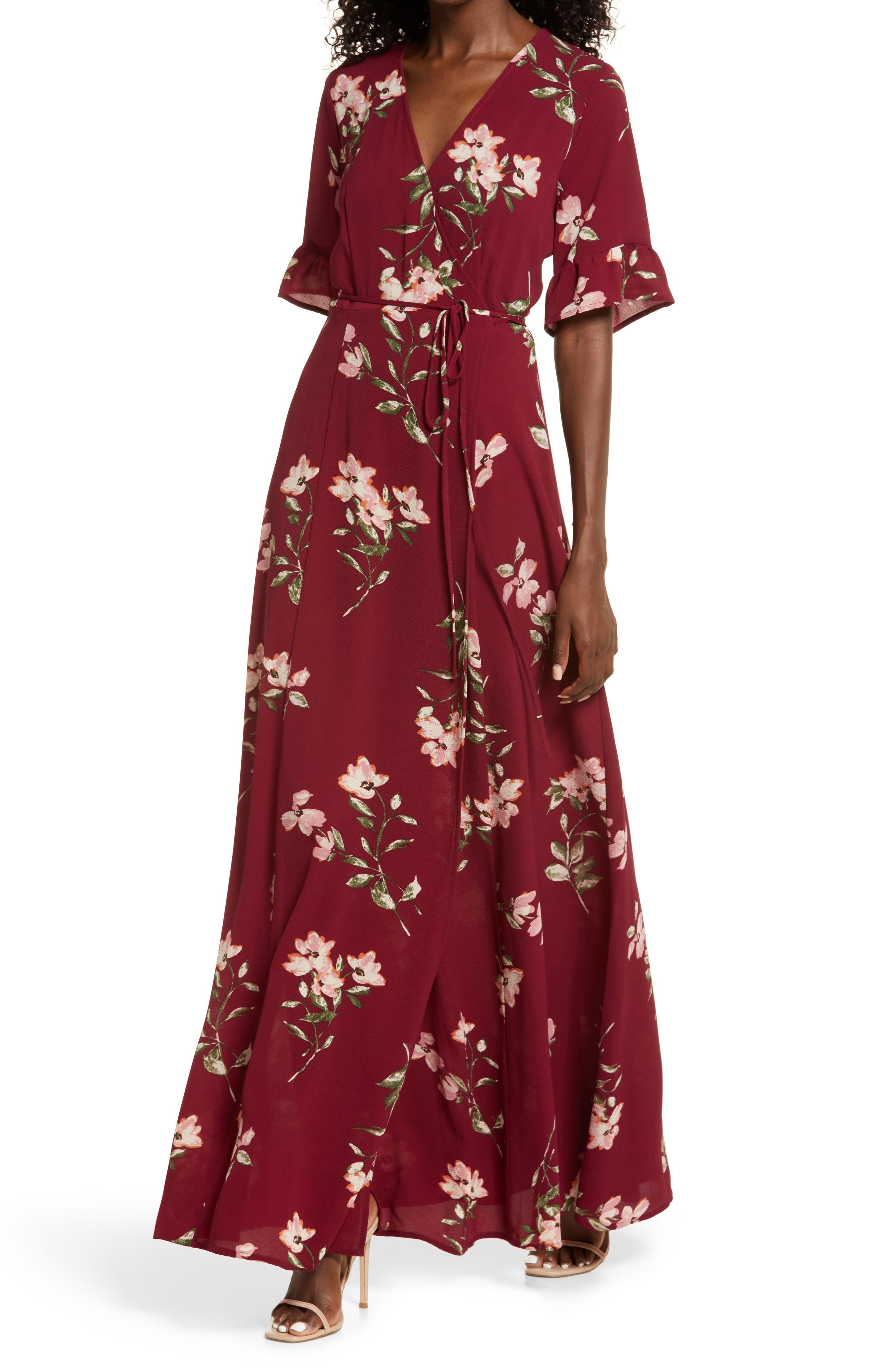 September Sunset Floral Print Dress