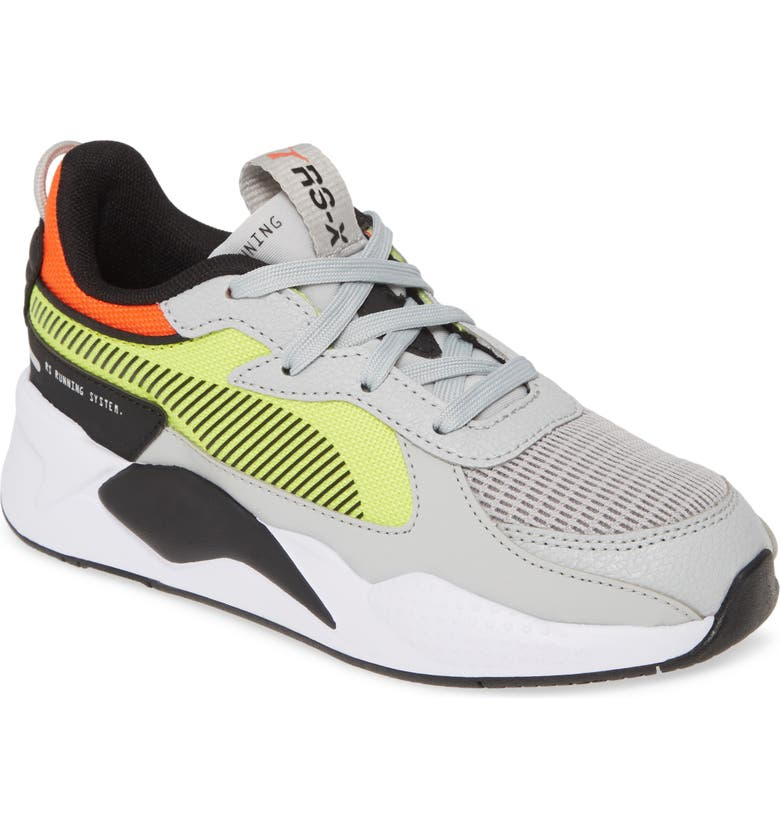 PUMA RS-X Hard Drive Sneaker, Main, color, HIGH RISE/ YELLOW ALERT