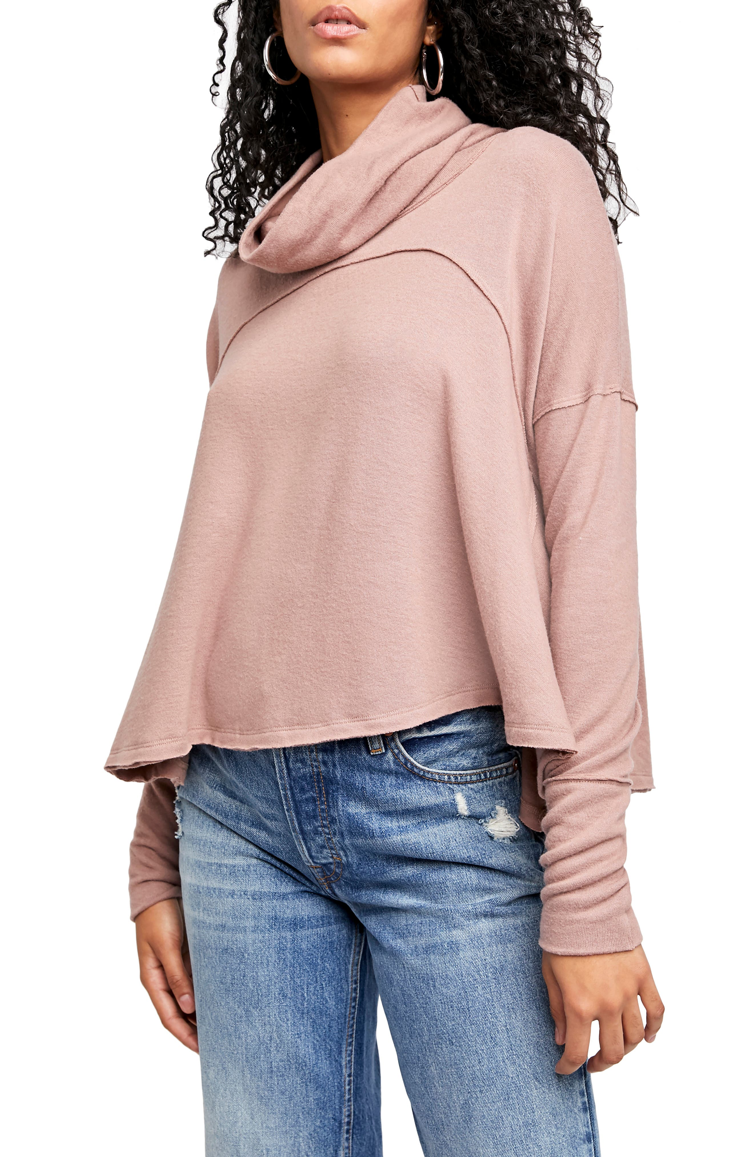 Image of Free People Cozy Time Funnel Neck Top