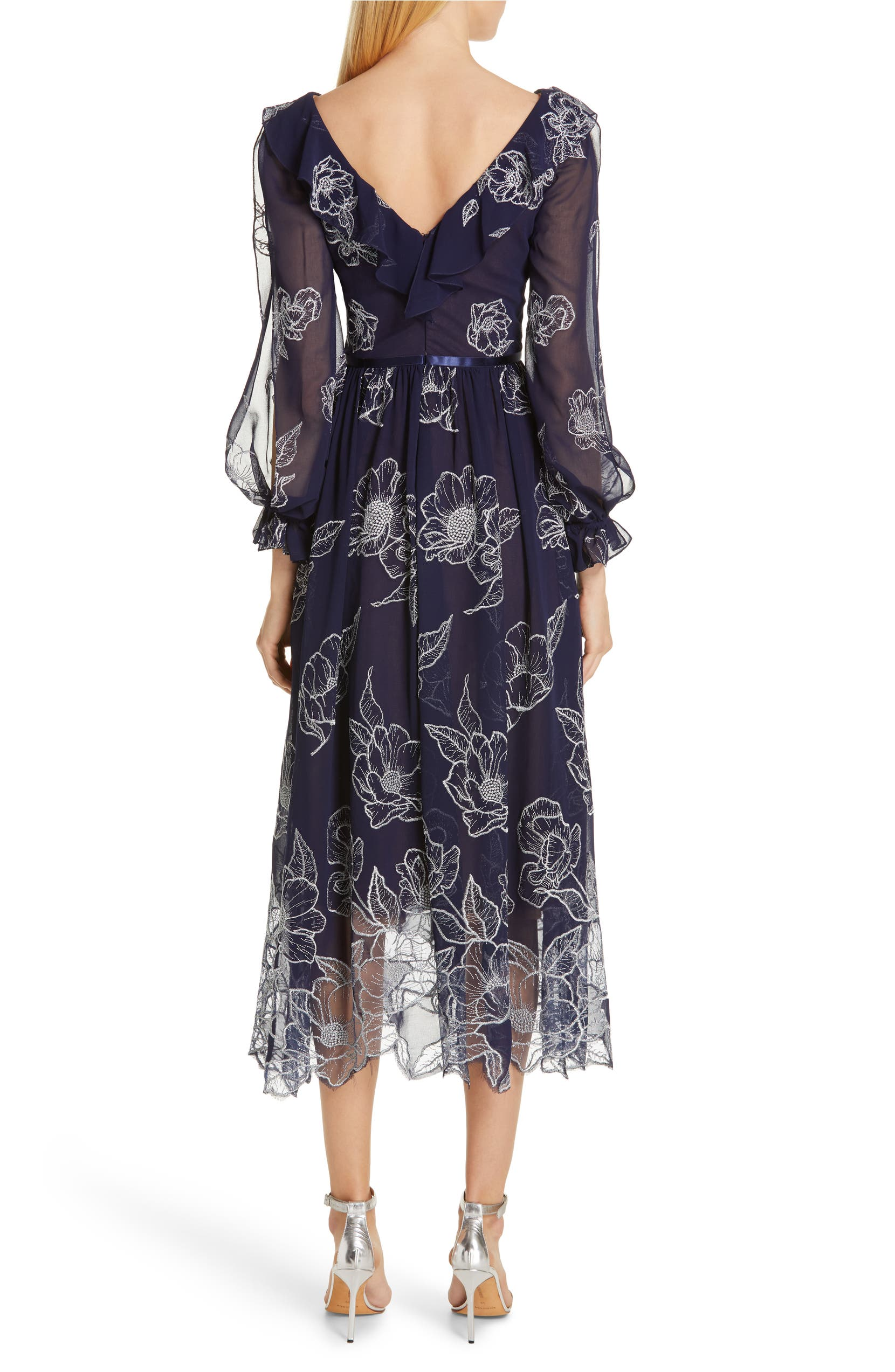 8b15dd1d Marchesa Notte Floral Embroidered Cocktail Dress | Nordstrom
