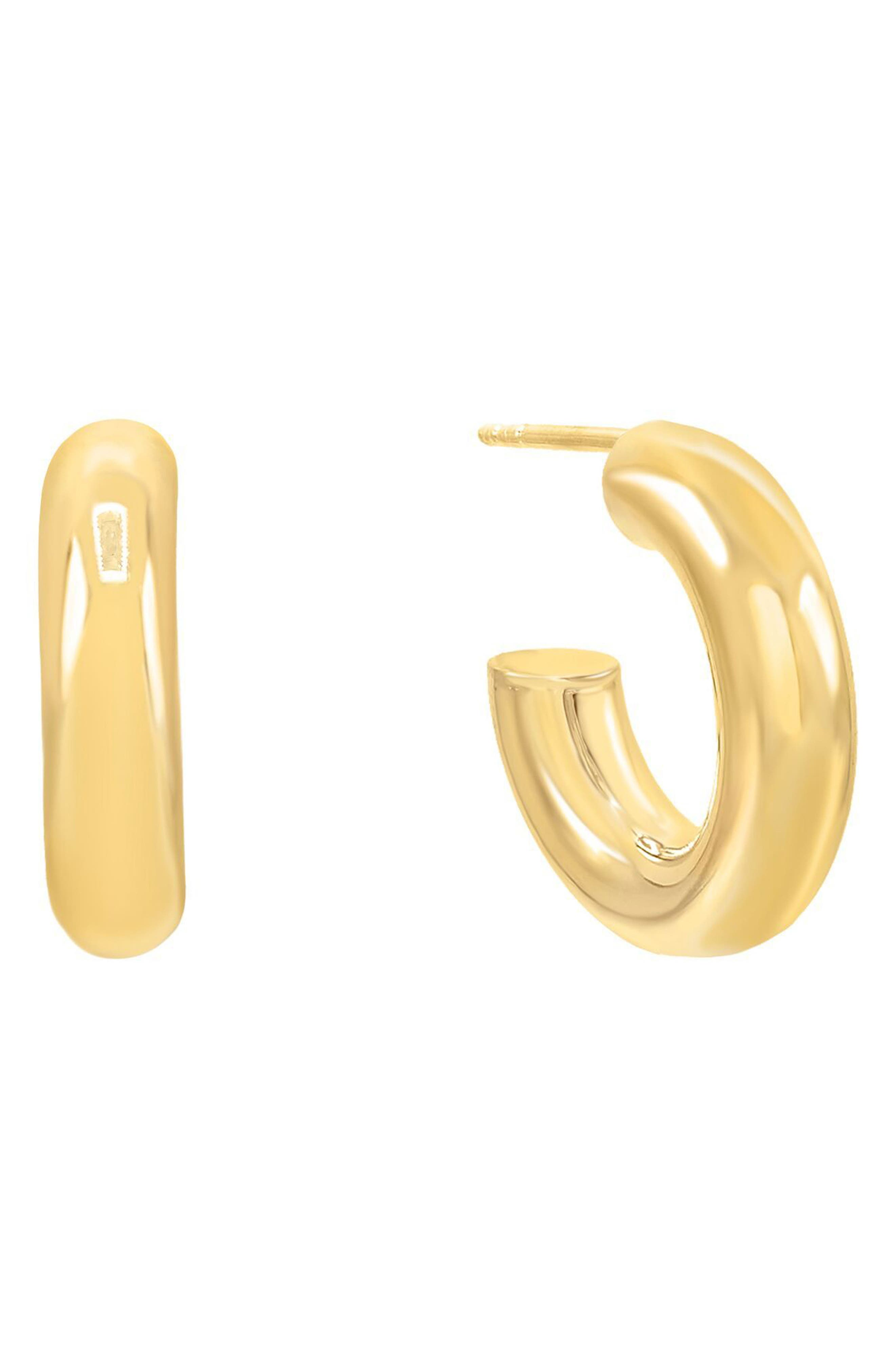 Women's Adina's Jewels Thick Hoop Earrings