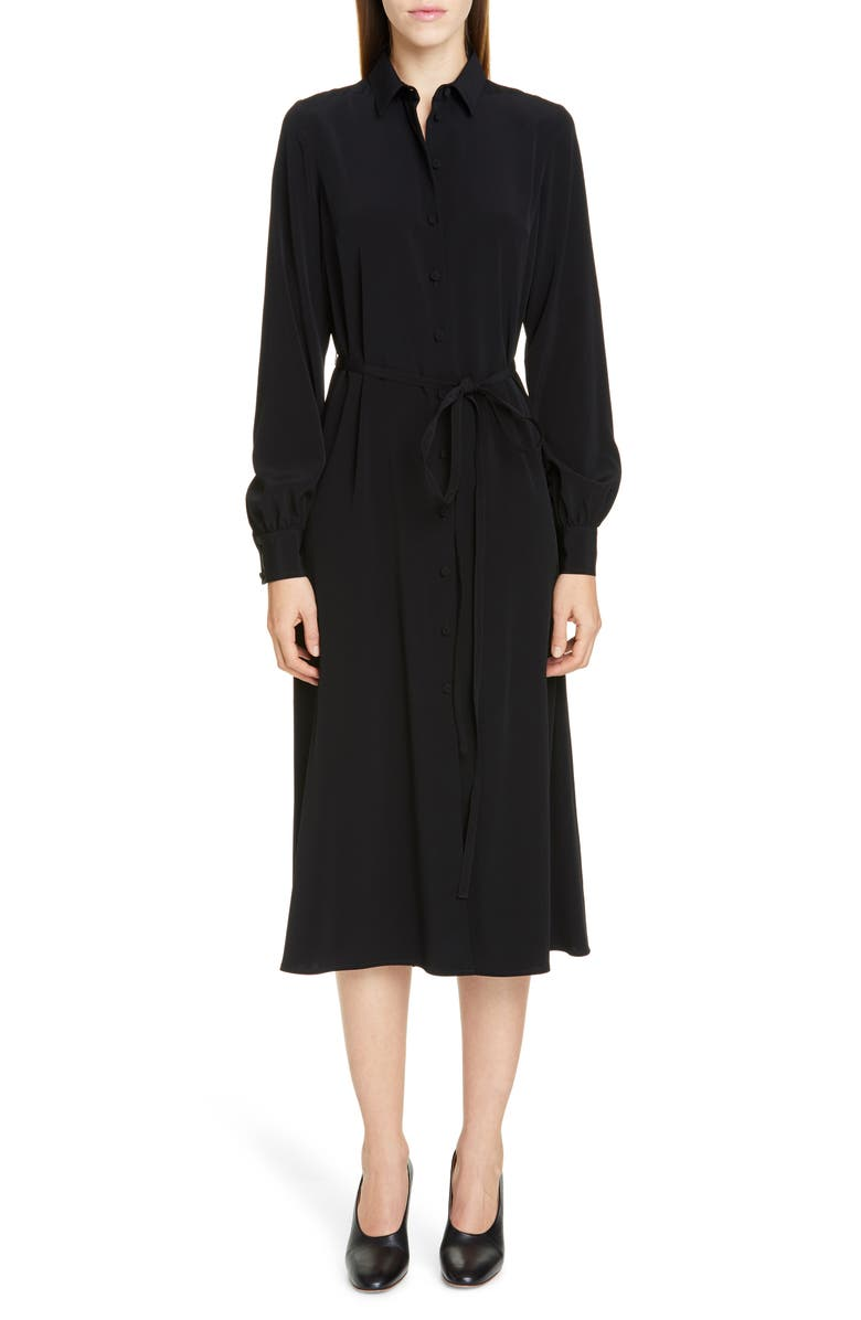 CO Belted Shirtdress, Main, color, BLACK