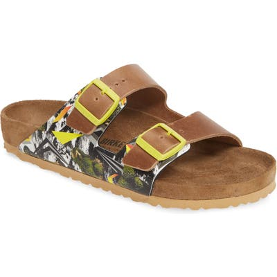 Birkenstock Arizona Camo Evolution Slide Sandal,9.5 - Yellow