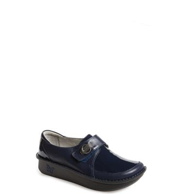 Alegria Dixie Platform Loafer,7.5- Blue