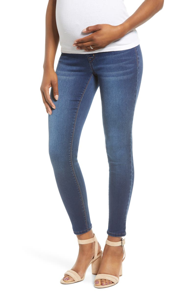 1822 DENIM Butter Ankle Skinny Maternity Jeans, Main, color, ZIGGY