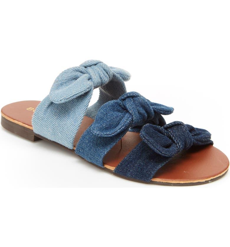 BCBG GIRLS Caden Sandal, Main, color, NAVY