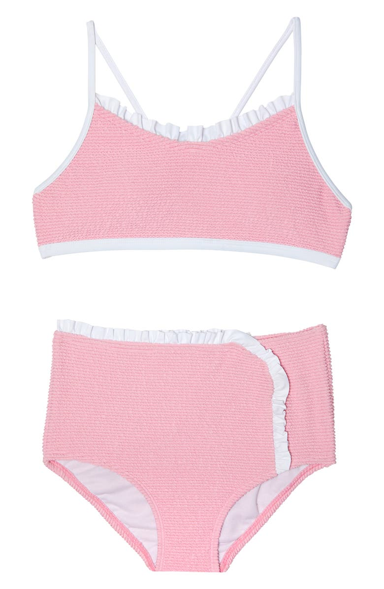 GOSSIP GIRL Pucker Up Two-Piece Swimsuit, Main, color, PINK