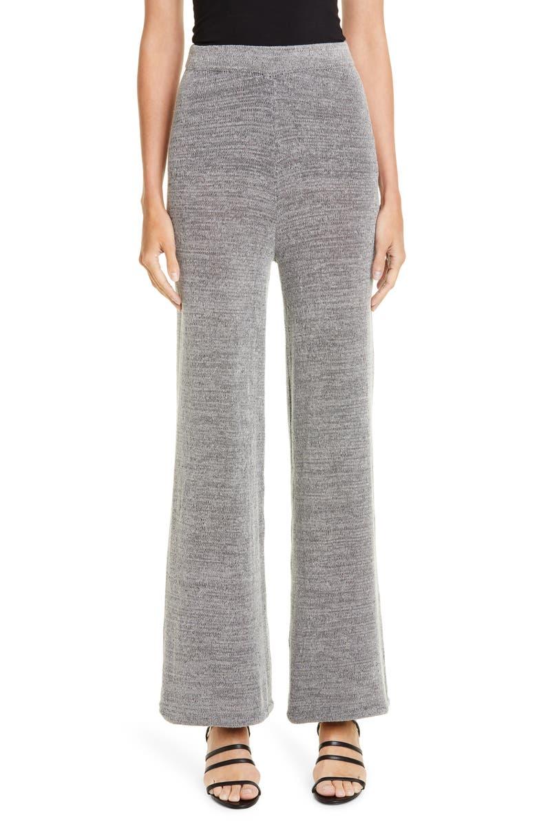SIMON MILLER Reli Sweater Pants, Main, color, BLACK WHITE SPACEDYE