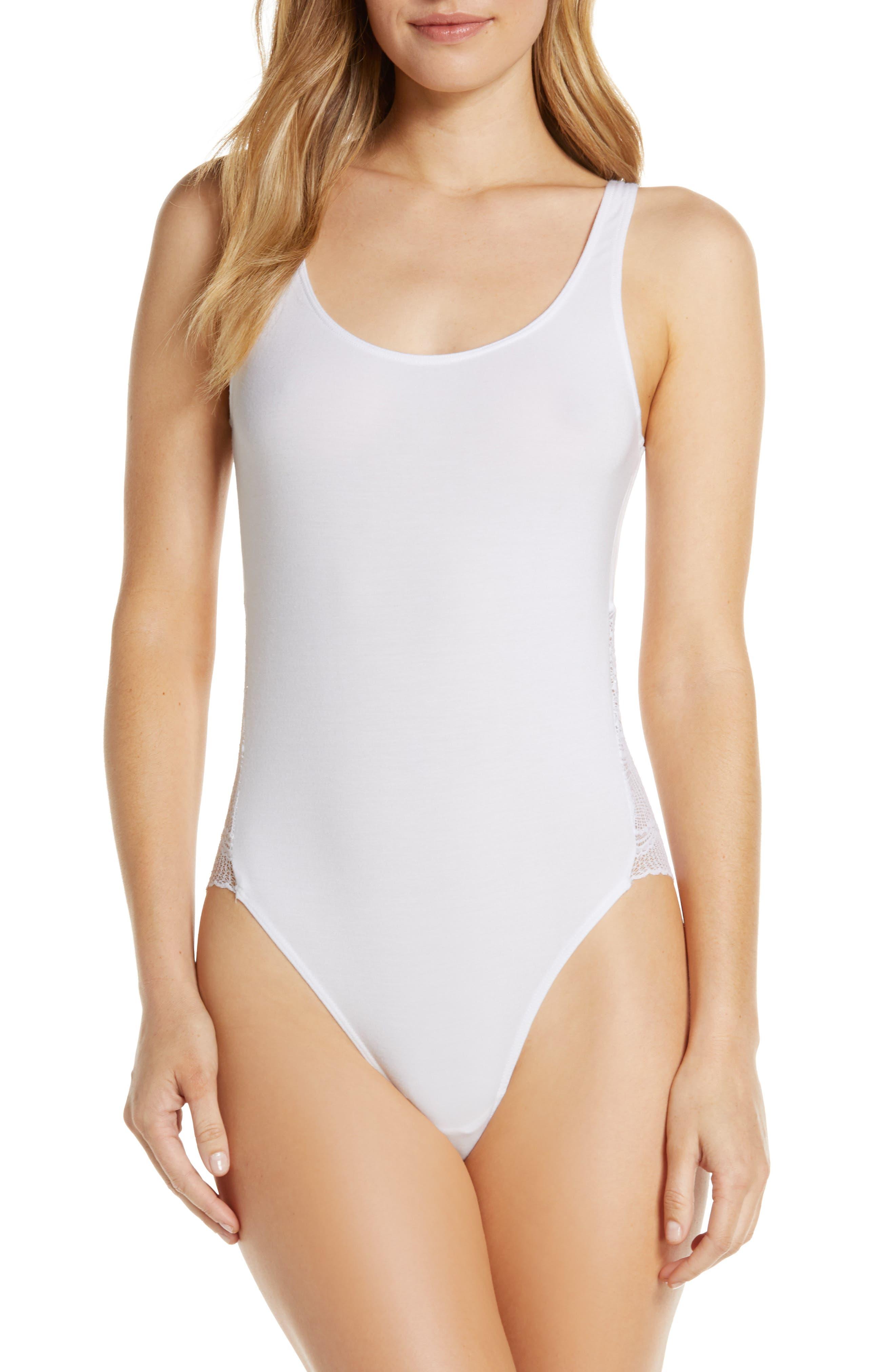 Lace Cutout Thong Bodysuit