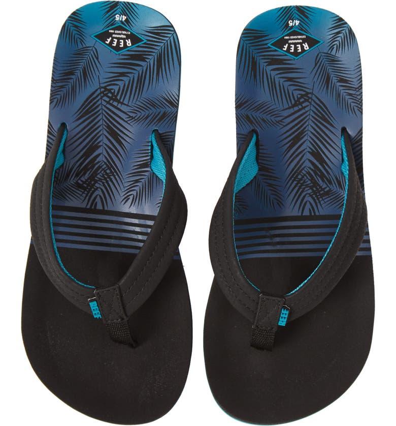 REEF Ahi Flip Flop, Main, color, AQUA PALMS