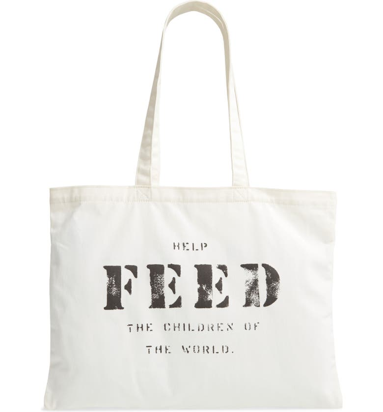 FEED 10 Tote, Main, color, WHITE