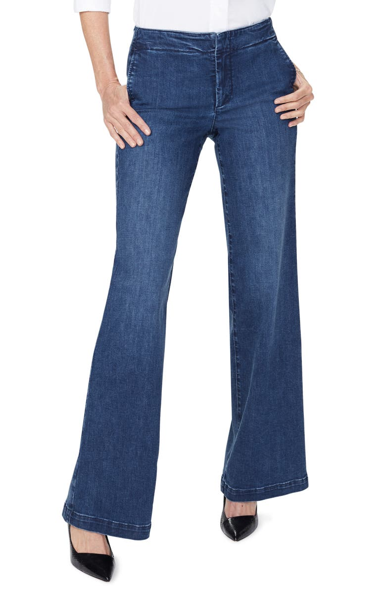 NYDJ Wide Leg Trouser Jeans, Main, color, CLEAN HABANA