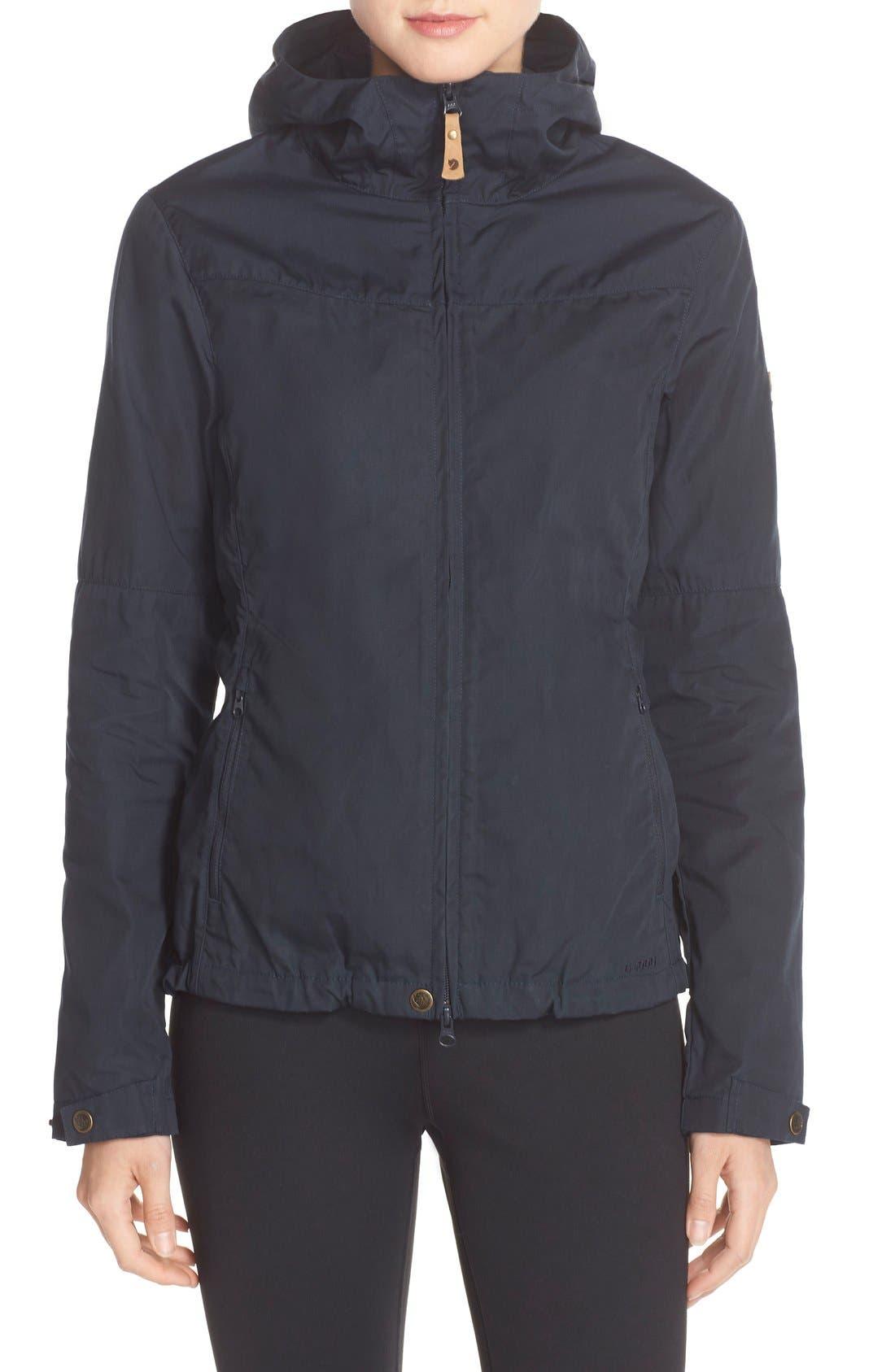 'Stina' Hooded Water Resistant Jacket