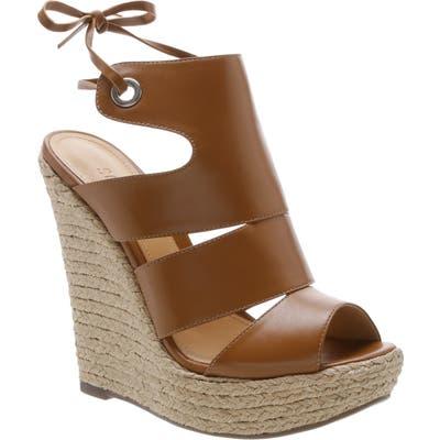 Schutz Ilione Platform Wedge Sandal- Beige
