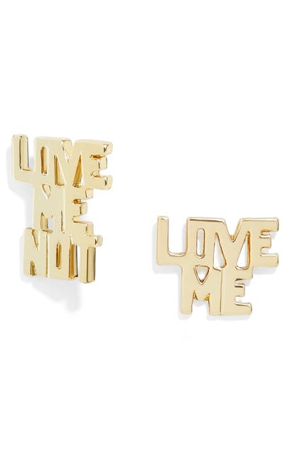 Baublebar LOVE ME LOVE ME NOT STUD EARRINGS