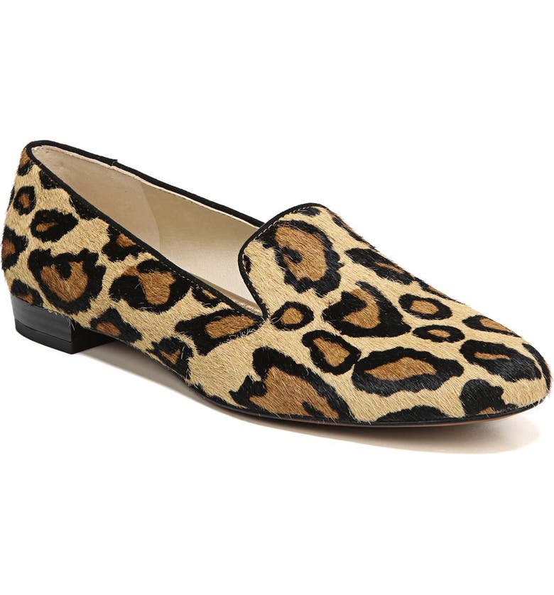 SAM EDELMAN Jordy Flat, Main, color, NEW NUDE LEOPARD CALF HAIR