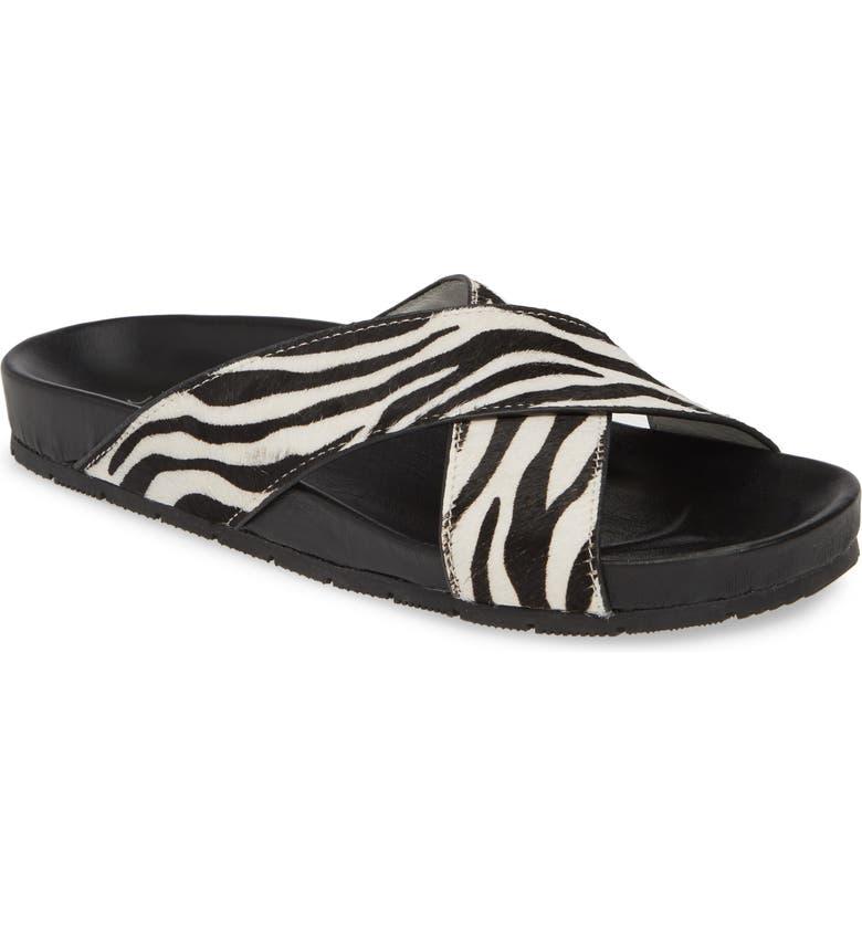 JSLIDES Nova Genuine Calf Hair Slide Sandal, Main, color, 200