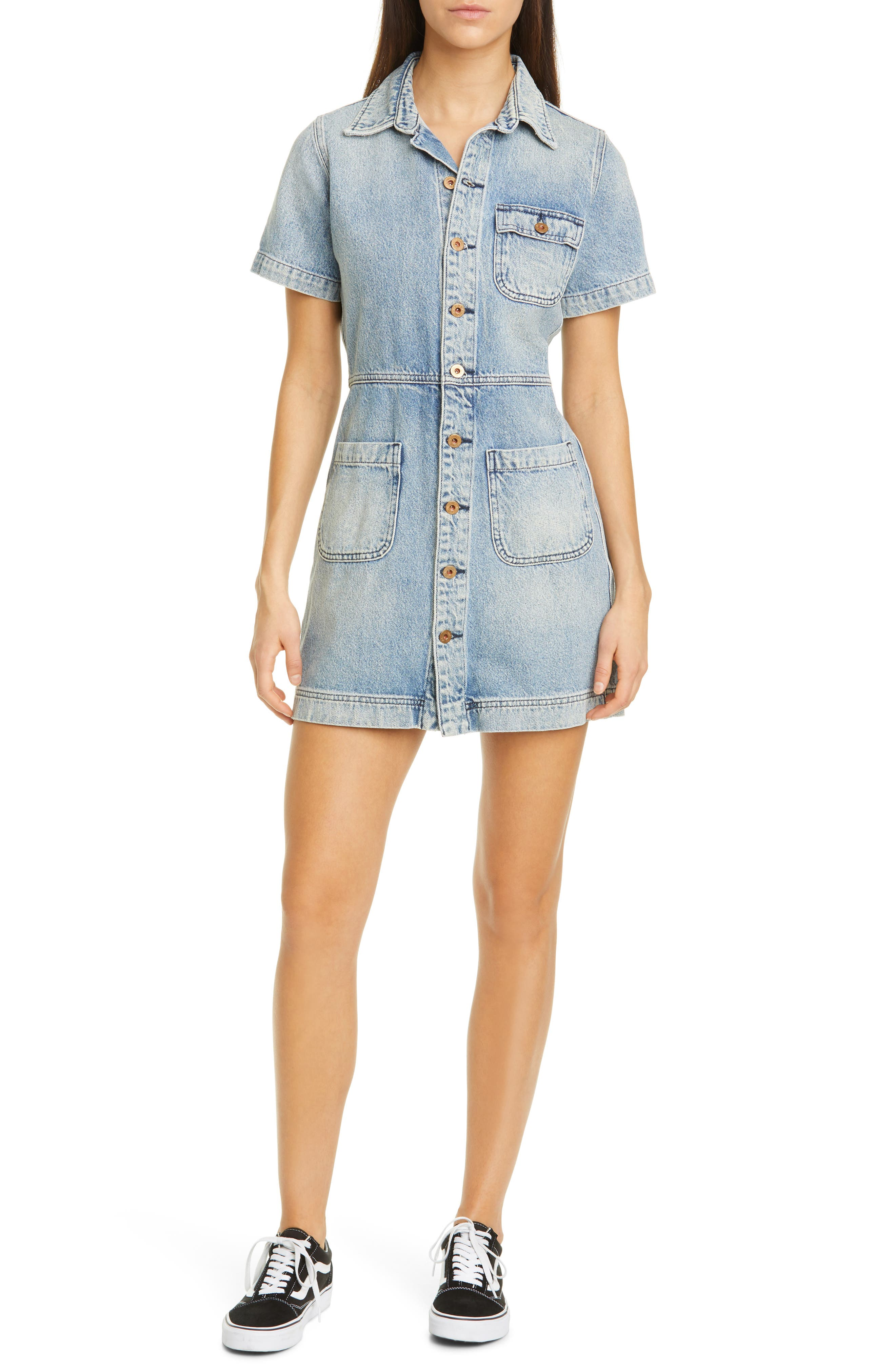 Image of NSF CLOTHING Finn Button Up Dress