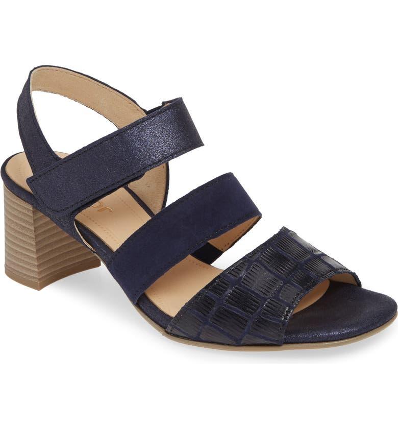 GABOR Block Heel Sandal, Main, color, 402