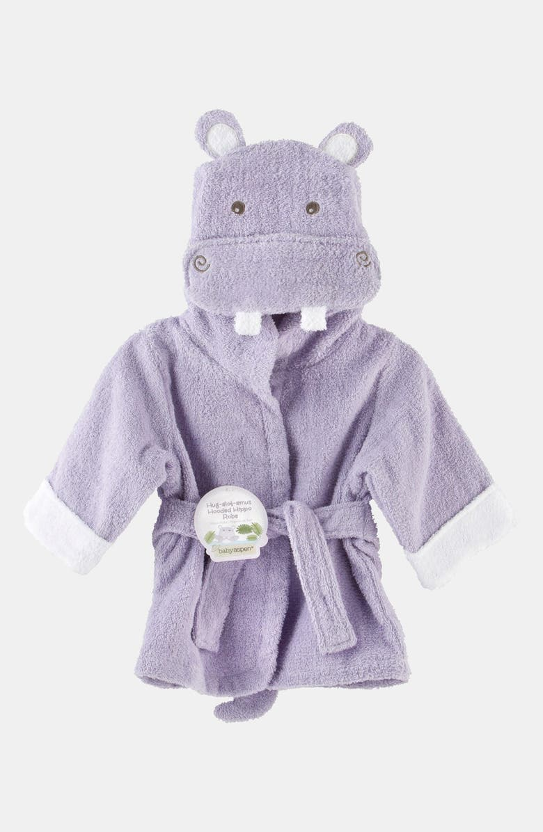BABY ASPEN 'Hug a Lot Amus' Hooded Robe, Main, color, 500