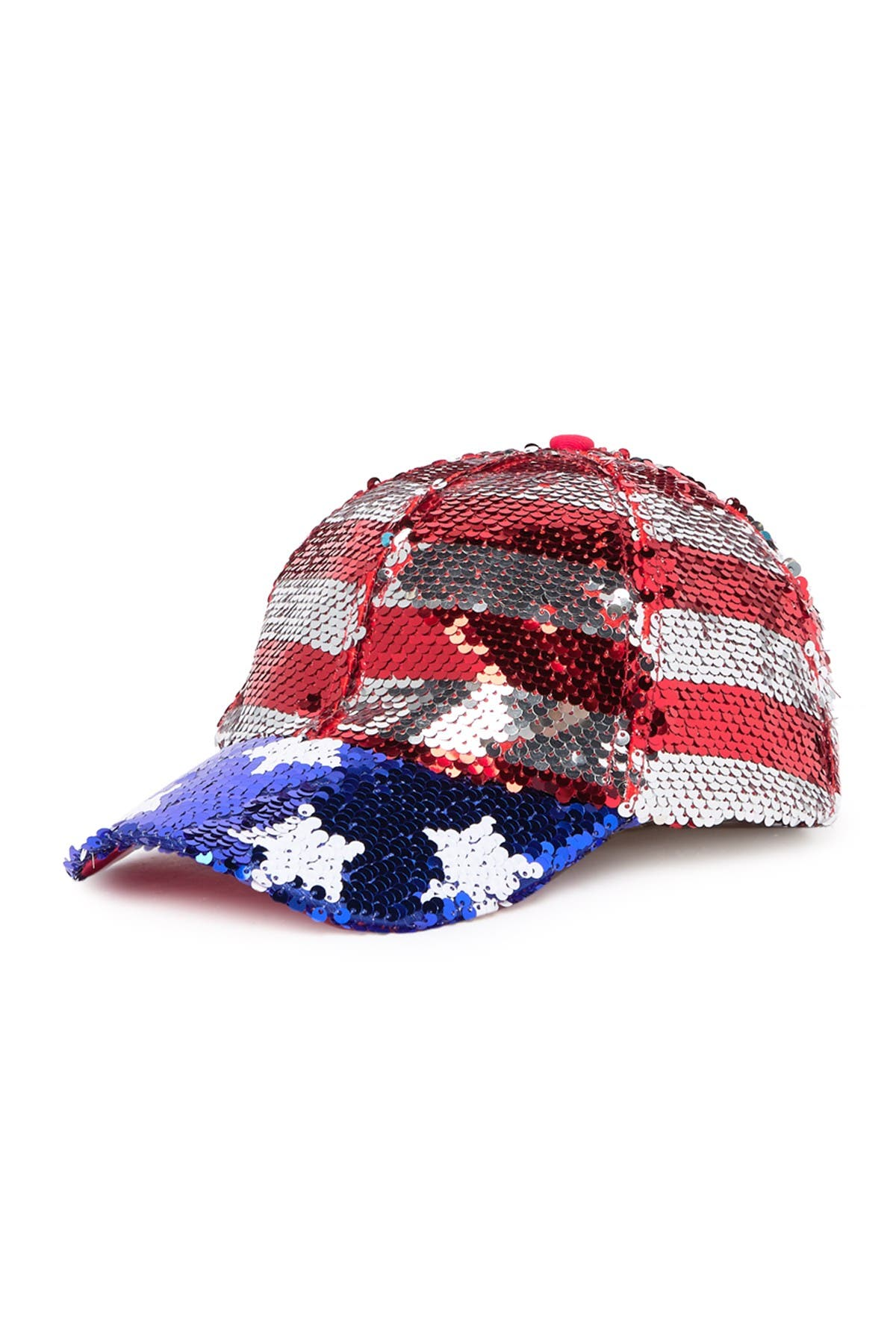 Collection Xiix American Sequin Baseball Cap In Multi