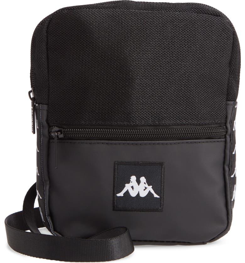 KAPPA Banda Bayes Crossbody Bag, Main, color, BLACK-BLACK
