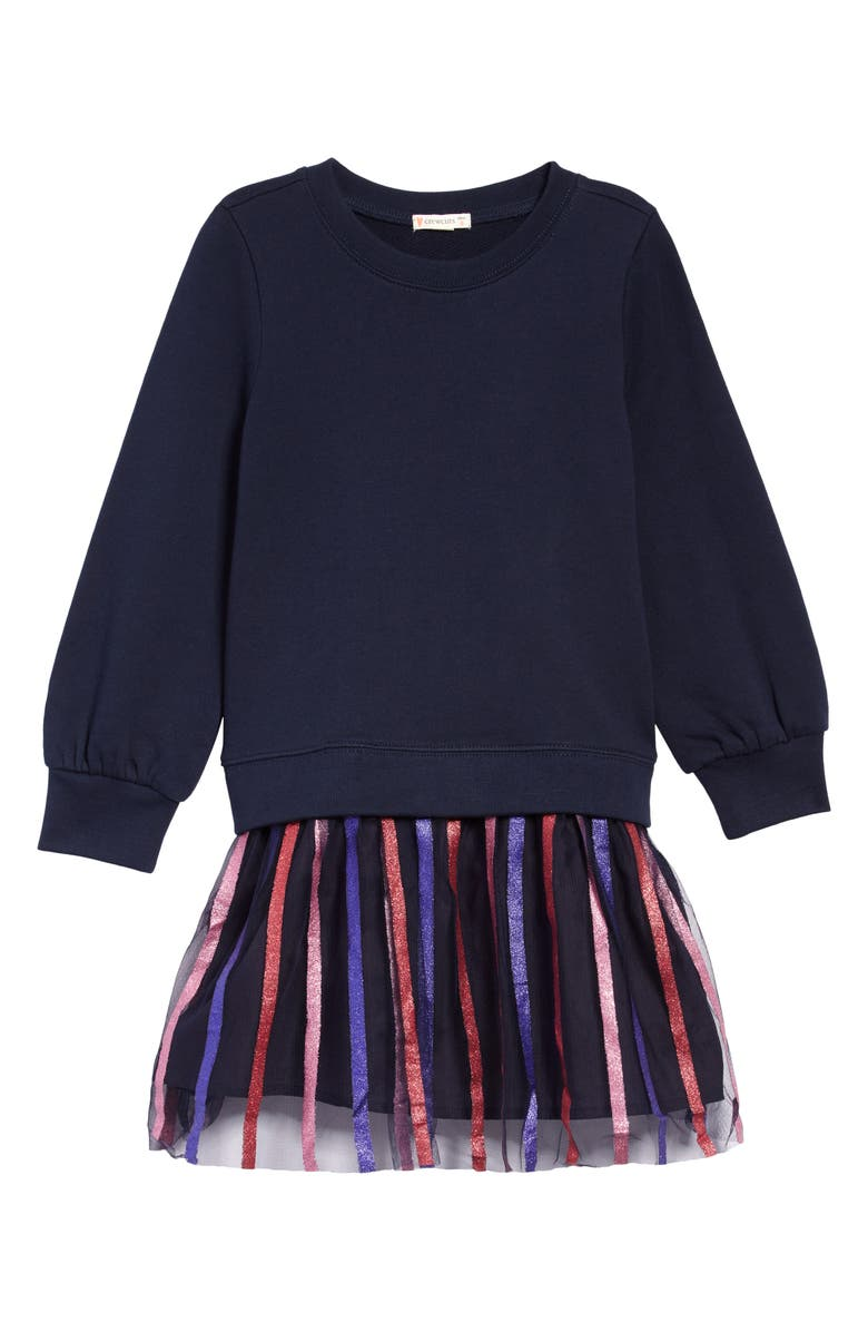 CREWCUTS BY J.CREW Stripe Tulle Mixy Dress, Main, color, 400