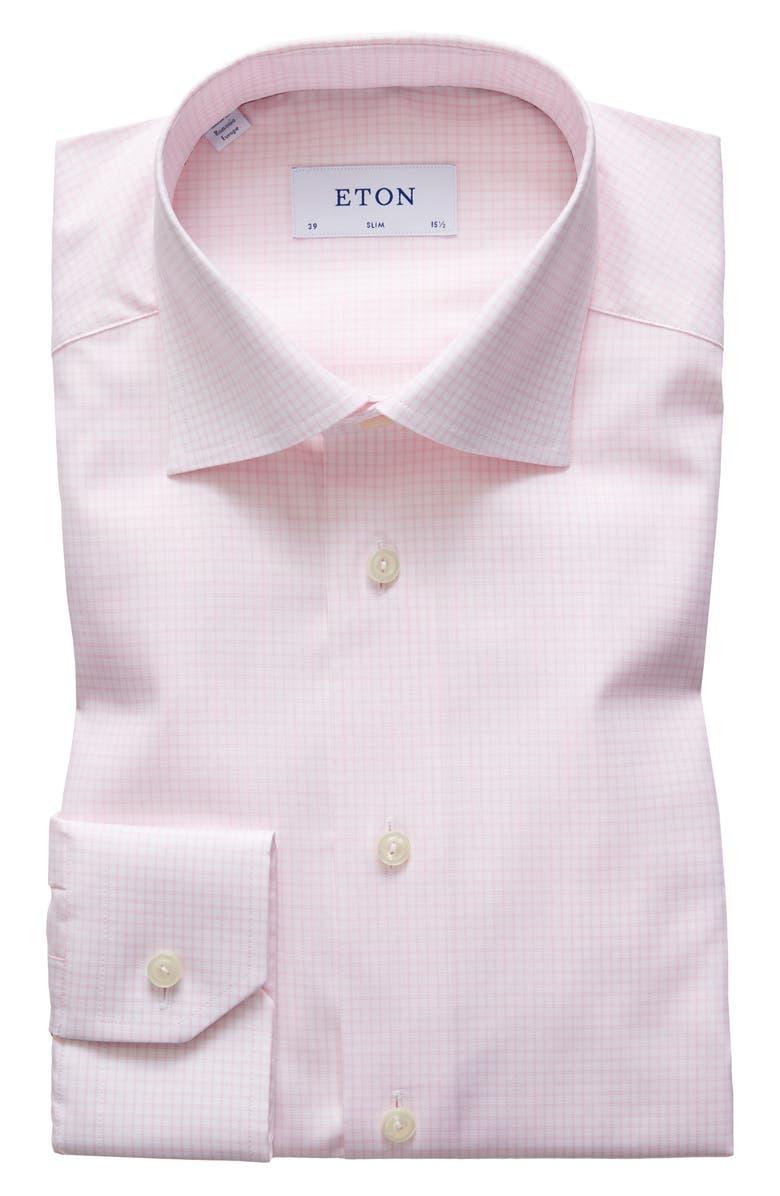 ETON Slim Fit Check Dress Shirt, Main, color, 651