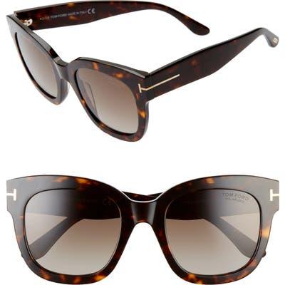 Tom Ford Beatrix 52mm Polarized Gradient Square Sunglasses -