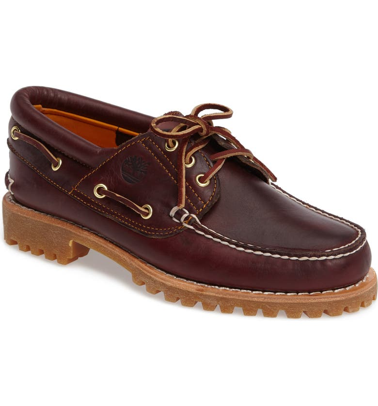 TIMBERLAND Authentic Boat Shoe, Main, color, ROOTBEER LEATHER