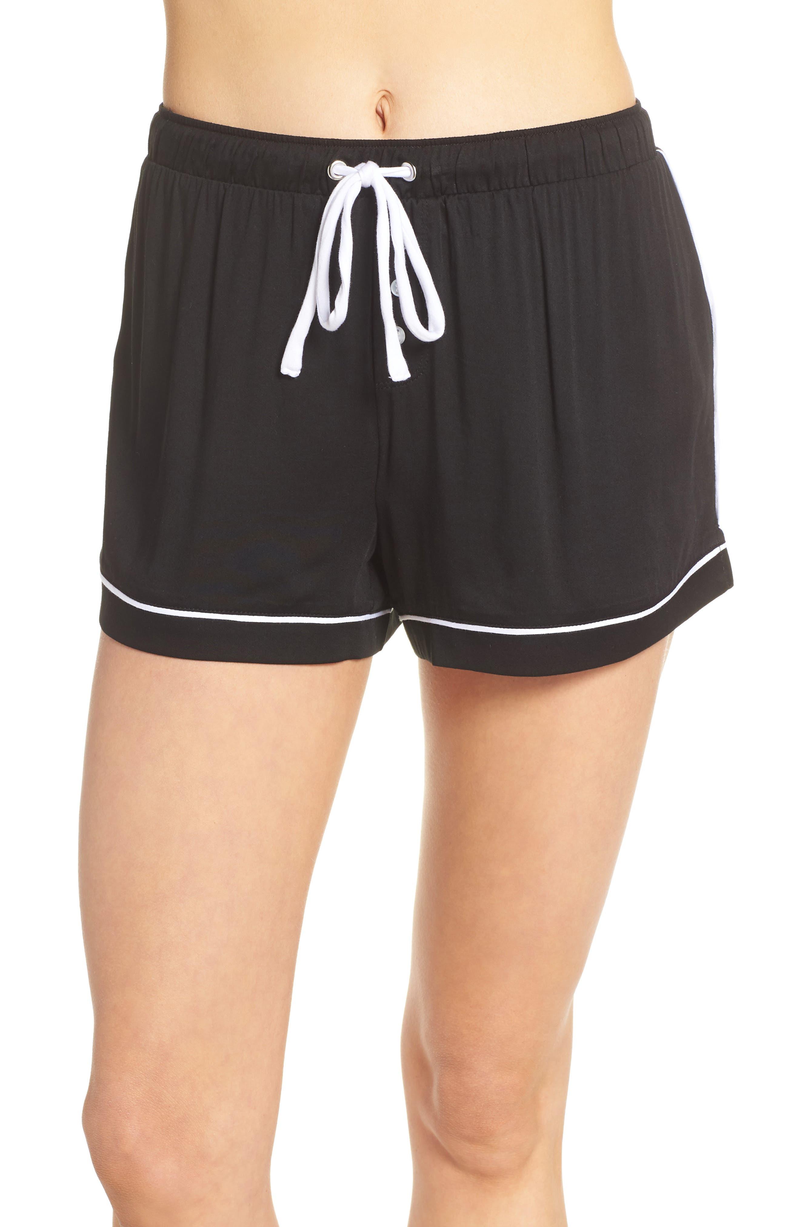 Splendid Pajama Shorts, Black