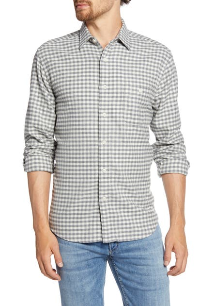 Faherty T-shirts STRETCH SEAVIEW REGULAR FIT CHECK FLANNEL BUTTON-UP SHIRT
