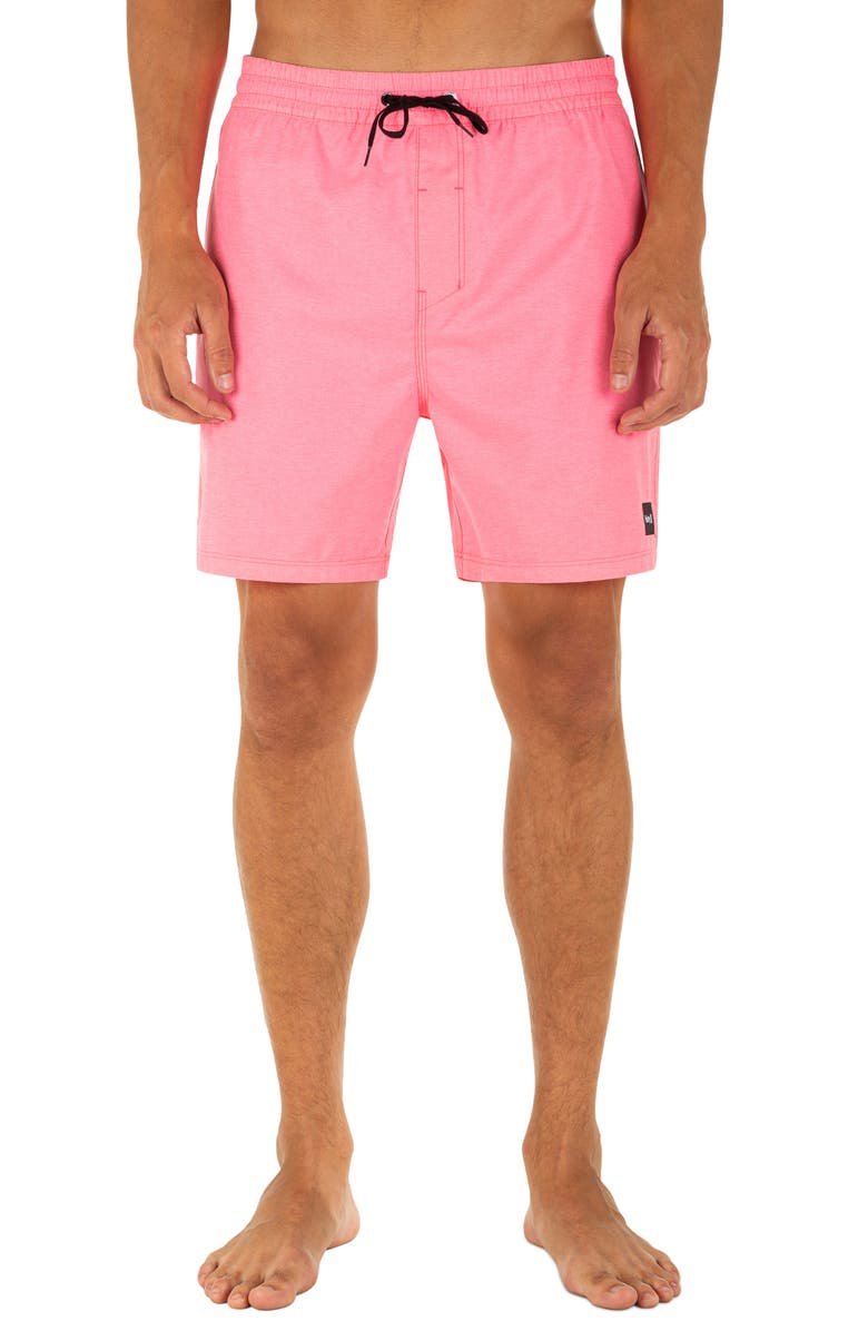 HURLEY One And Only Swim Trunks, Main, color, DIGITAL PINK